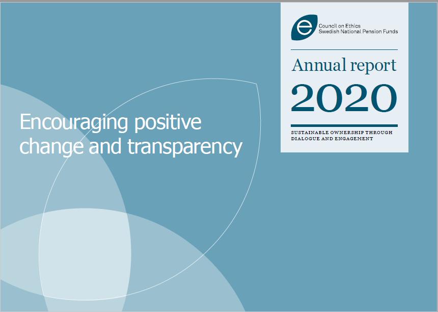 Framsida AP3 halvårsrapport 2020Frontpage Etradet annualReport2020_eng