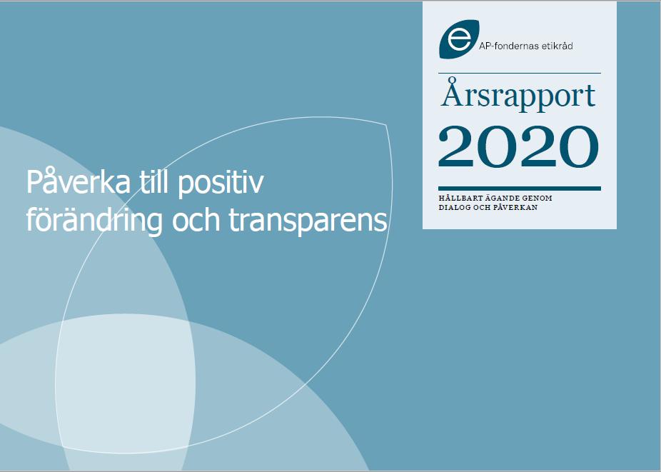 Framsida Etikrådets årsrapport 2020